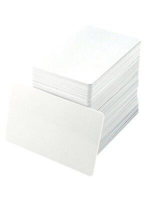 PVC Cards ID Blank White CR80 30 ml USA Made - 100 Pack