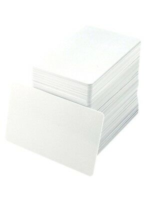 PVC Cards ID Blank White HID CR80 30 ml USA Made - 100 Pack