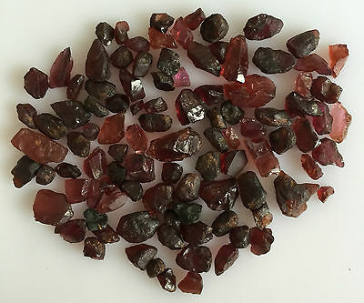 100 Ct Scoop Natural Garnet Red Rough Gemstones Loose Wholesale Lot Raw Mineral