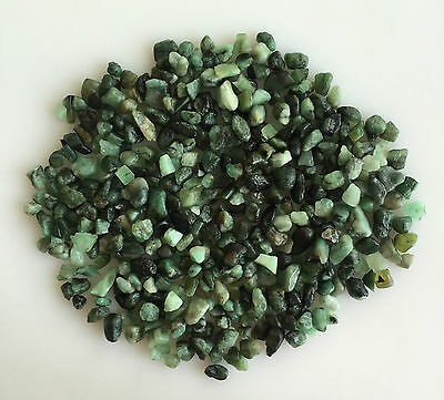 200Ct Scoop Natural Emerald Green Rough Gemstone Loose Mineral Lot Raw Wholesale