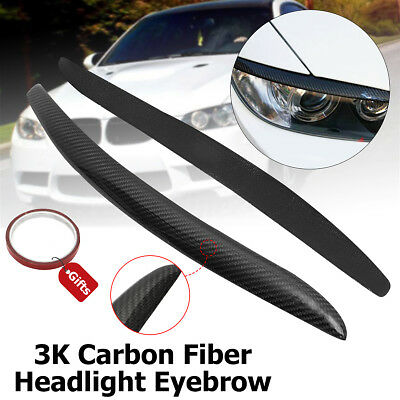 Real Carbon Fiber Headlight Lid Eyebrow For BMW E92 E93 335I 335CI Coupe 2007-12
