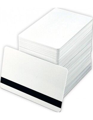 Magnetic Strip PVC HiCO Cards ID White CR80 30 ml USA Made Hi Co  - 100 Pack