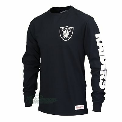 NEW Oakland Raiders Sleeve Print Long Sleeve Tee by Mitchell & Ness