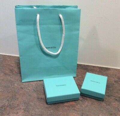 Empty Tiffany Jewelry Boxes and Bag Lot