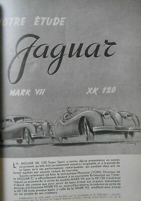 ► Revue Technique - Jaguar Mark Vii & Xk 120 + Panhard Dyna - 1952