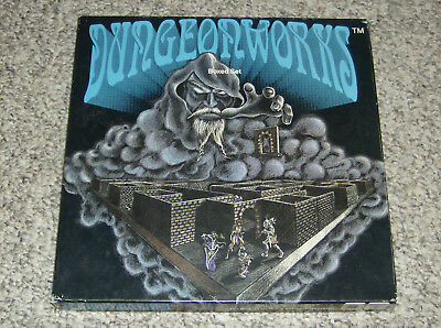 Dungeonworks Boxed Set Magnetic Dungeon RPG 1991 Complete