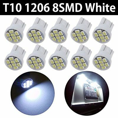 50pcs T10 White 8 SMD LED Car Side Wedge Interior Light Bulbs 1206 2825 194 W5W