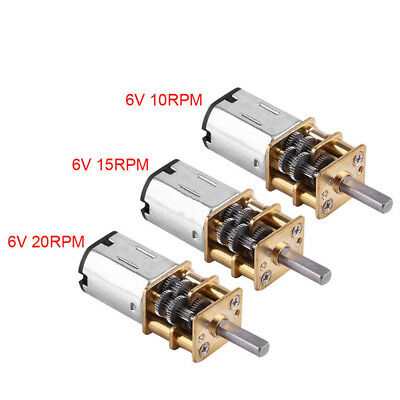 1:1000 DC 6V 10/15/20 RPM Speed Reduction Electric Gear Motor w/ Metal Gearbox