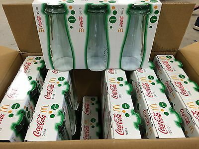 Box of Mac Donald's coca cola  glasses up side down Green. $. 1.10 Each  2013.