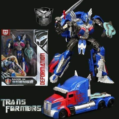Large Transformers 5 The Last Knight Optimus Prime Action Figure  Version Toy