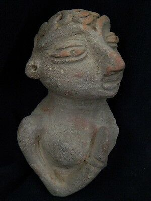 Ancient Large Size Teracota Hollow Mother Goddess Bust Indus Valley 3000 BC #591