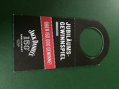 Jack Daniels German 150Th Bottle Tag -Great For Display -No Green Label