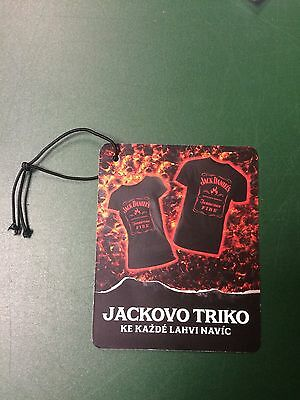 Rare Jack Daniels Czech Republic Fire Display Bottle Neck Tag -No 150Th