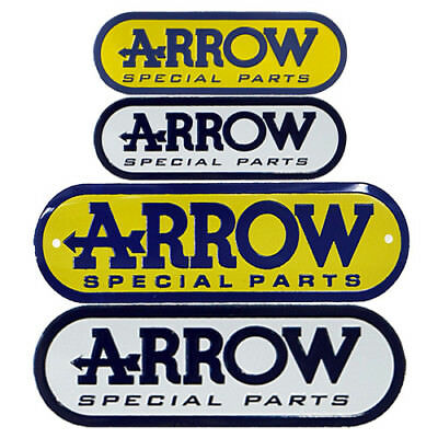 Aluminium Motorcycle Exhaust Pipes Decal Sticker - Arrow