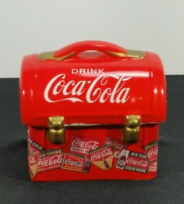 Vintage Coca-Cola Collectible Lunchbox Salt & Pepper Shakers Set