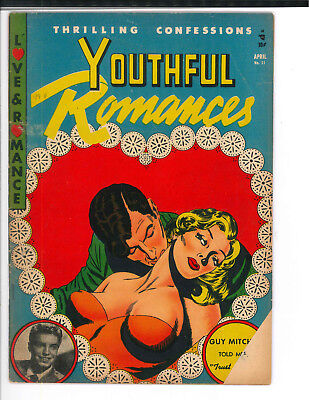 YOUTHFUL ROMANCES #11 VG+ 1953 Classic GGA cover.
