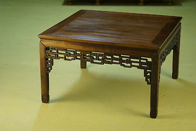 Table basse chinoise bois de fer Antique chinese rosewood coffee table