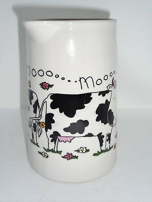 BN Cream Pottery Moo Cow Style Pitcher Pint Jug, Cow Jug, Cow Gift, Milk Jug