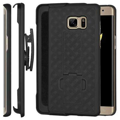 For Samsung Galaxy Note FE Shell Holster Combo Case with Kickstand & Belt Clip
