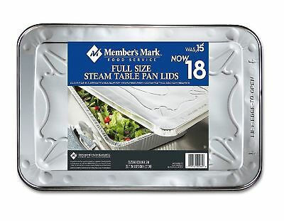 Member's Mark Aluminum Steam Table Lids Full Size 100% Recyclable 18 Ct - New