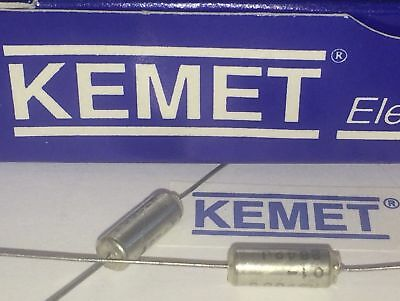 Kemet Best Quality Solid Tantalum Axial Capacitor All Values Drop Down List