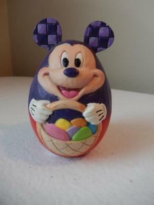 Jim Shore - (NEW) Disney Mickey Mouse Hand Painted Egg (Free Shipping)