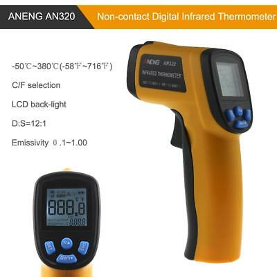 Hand-held Non-contact Digital Infrared Backlight Thermometer Temperature Meter