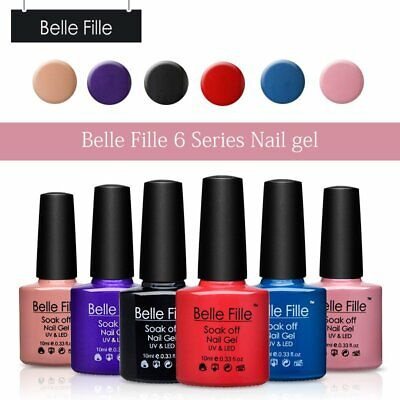 BELLE FILLE 6 Colour gel Set Gift Box UV LED Gel Nail Polish nail Varnish 10ml