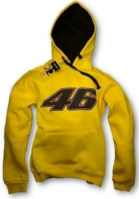 Sweatshirt Adult Hoody Bike MotoGP Valentino Rossi Big 46 Hoodie Yellow CA