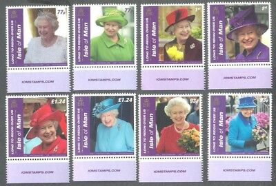 Isle of Man-Long to Reign Over Us-Queen Eliz II set mnh-Royalty