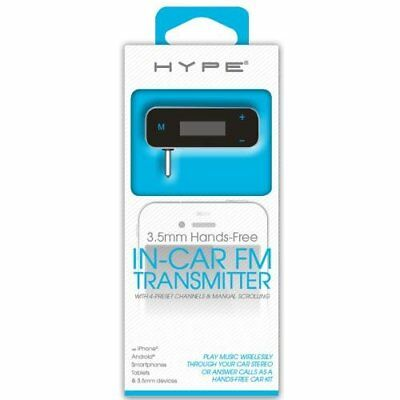 HYPE 3.5mm Hands-Free In-Car FM Transmitter + Micro USB Cable