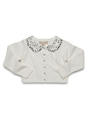 NEW-Little Linens Tea At The Ritz Cardigan,White,12-18MTHS,Navy,6-7Y