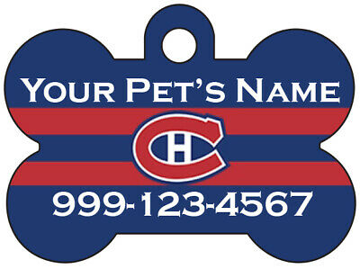 Montreal Canadiens Custom Pet Id Dog Tag Personalized w/ Name & Number