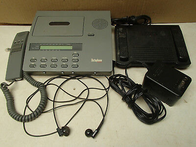Dictaphone 2750 cassette tape dictation transcriber w/ foot pedal & hand control