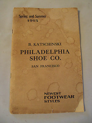 RARE 1915 San Francisco Catalog~PHILADELPHIA SHOE CO~Newest Styles~Ephemera~