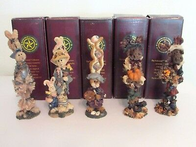 Boyds, Bears -The Folkstone Collection -Set Of Five