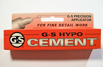 Jewellers G-S Hypo Cement With Precision Applicator Watch Crystals Jewellry Etc