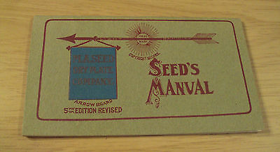 "RARE ca 1890 ""Seed's MANUAL""~M.A. SEED DRY PLATE CO~Early Photography~AMAZING~"