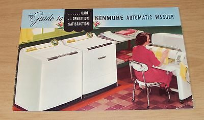 """1950's Your """"GUIDE to KENMORE Automatic WASHER""""~Care/Operation/Satisfaction~"""