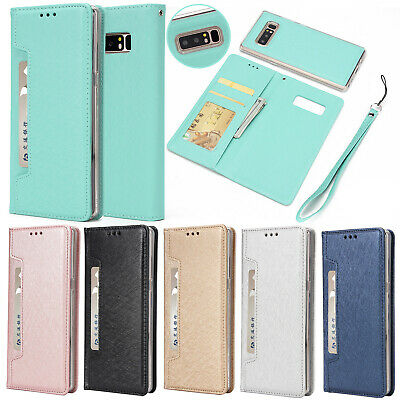 For Samsung S9/S9 Plus Magnetic Removable Leather Wallet Card Pocket Case Cover