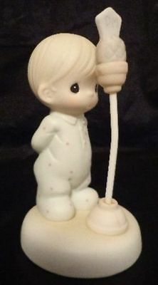 PRECIOUS MOMENTS BABY'S FIRST WORD 7TH #7 7 IN Series FIGURINE Infant microphone