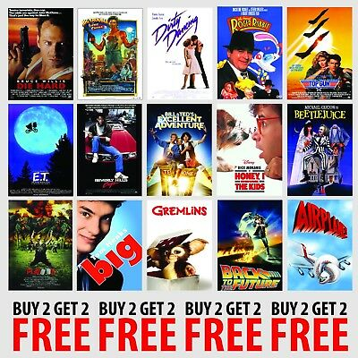 CLASSIC 80s MOVIE POSTERS A4/A3 300gsm Photo Poster Film Wall Decor Fan Art
