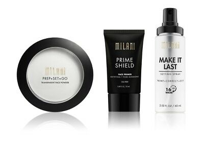 Milani Prime Shield Face Primer /Setting Spray /Setting Powder -CHOOSE YOURS