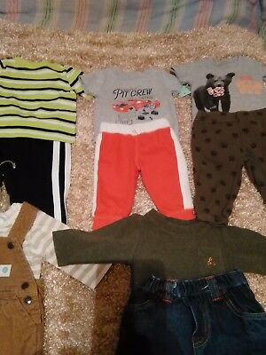 Newborn baby to 3 month lot of baby boy clothes. Used but in great shape.