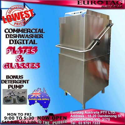 EUROTAG DIGITAL Commercial PASS THROUGH Dishwasher  90-120-180 sec w. cycles