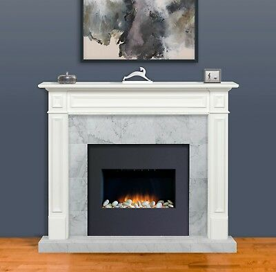 "Pearl Mantel 64"" Mike white transitional fireplace mantel. 525-48, Free S/H"