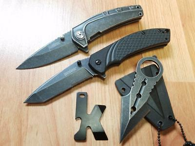 Kershaw LOT OF 4 Neck Knife, 2 Assisted Open Pocket Knives, K Tool 4PC Speedsafe