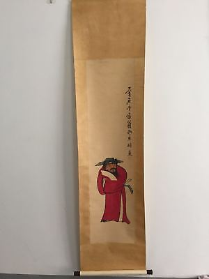 Excellent old Chinese Scroll Painting By Qi Baishi:zhongkui  x027