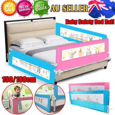 Pink/Blue Safety Bedrail Bed Rail Cot Guard Protection Children Toddler Kids