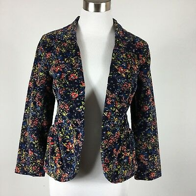 CARTONNIER ANTHROPOLOGIE WOMENS blazer sz 6 blue abstract